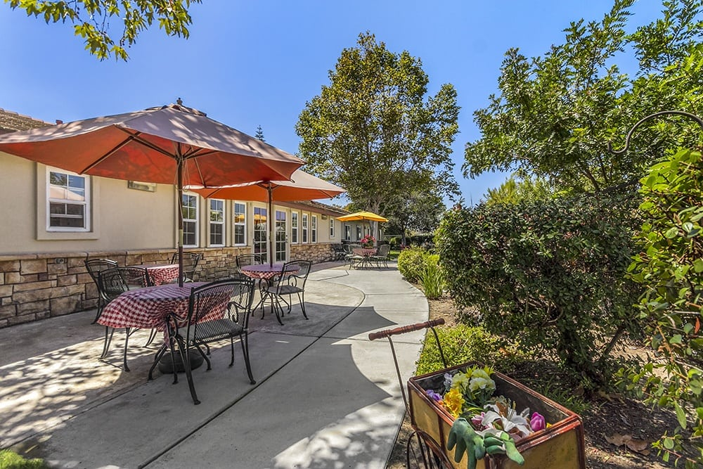 Landscaping at Oceanside senior living