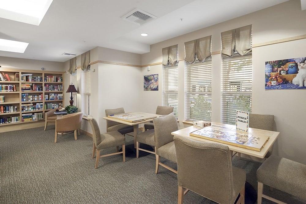 Bedroom at Merrill Gardens at Willow Glen in San Jose, CA