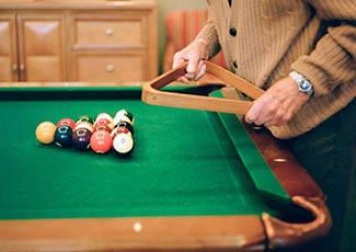 Billiards at senior living in Santa Maria