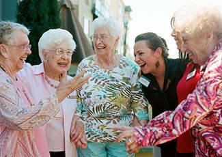Happy residents at  senior living in Santa Maria