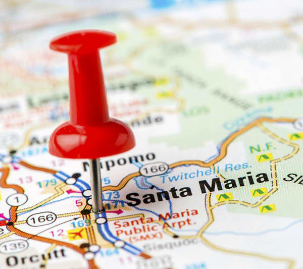 Map of the neighborhood of Santa Maria senior living