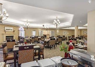 Dining Hall of Santa Maria senior living