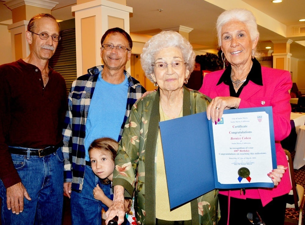 Merrill Gardens at Santa Maria Celebrating Residents 100th Birthday