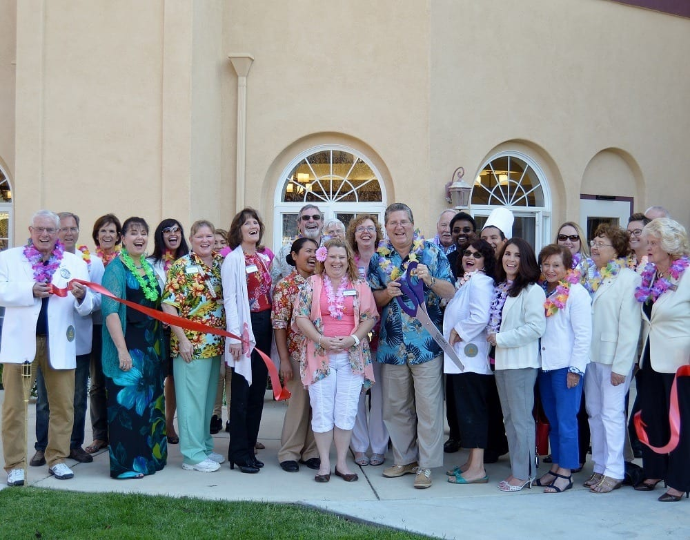Staff at the Ribbon Cutting at Merrill Gardens at Santa Maria