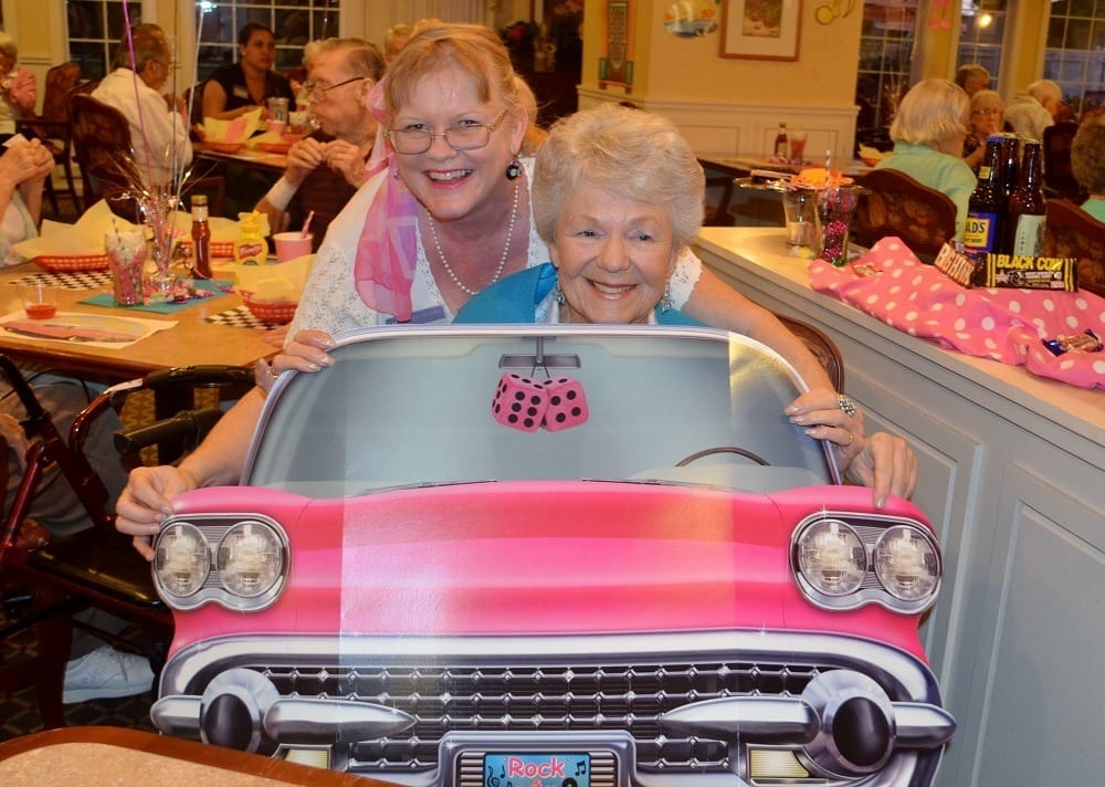 Residents Enjoying Sock Hop Party at Merrill Gardens at Santa Maria