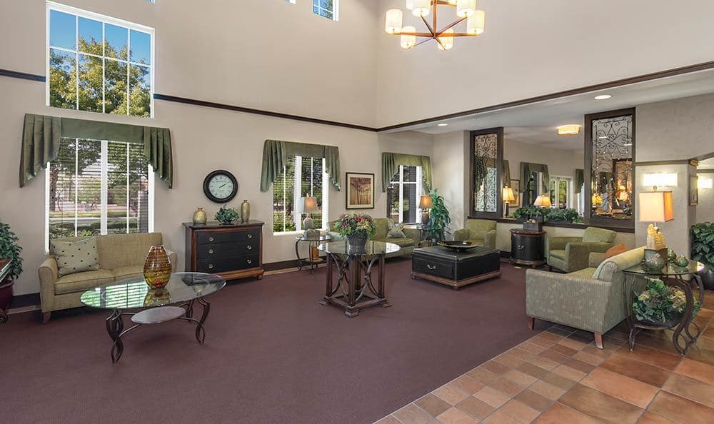 Large lobby at Merrill Gardens at Green Valley Ranch