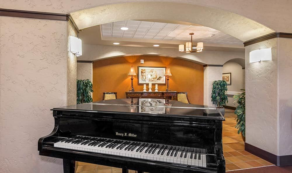 Merrill Gardens at Green Valley Ranch has a grand piano ready to be played