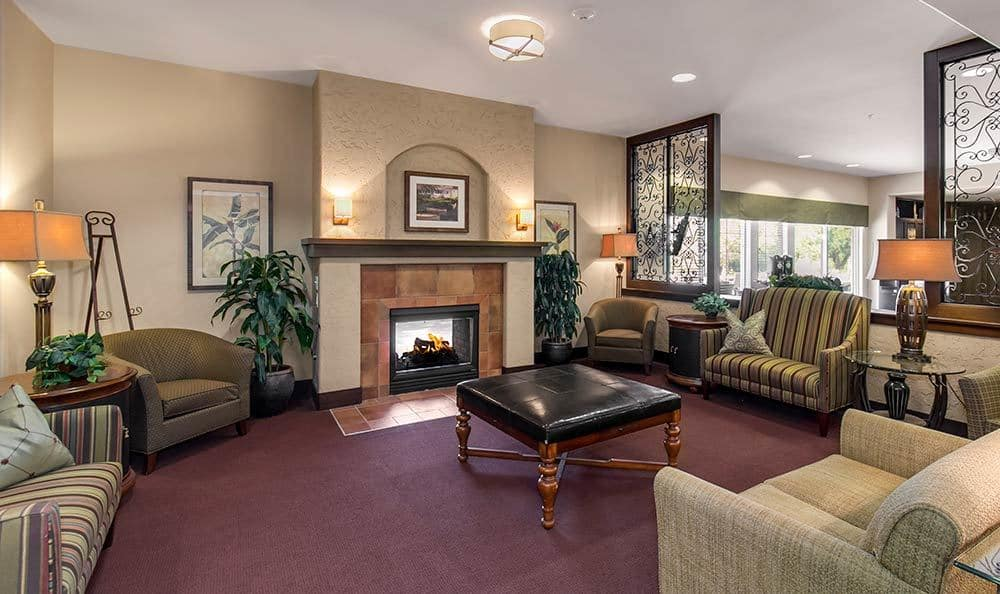 Curl up by a warm Merrill Gardens at Green Valley Ranch fire