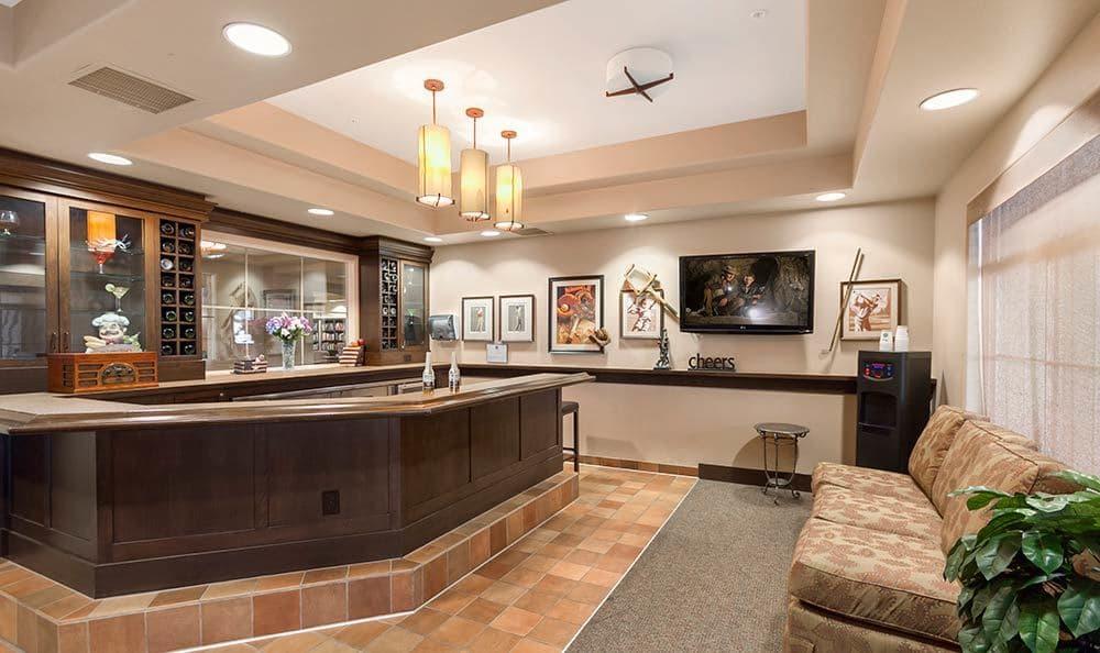 Private bar at Merrill Gardens at Green Valley Ranch