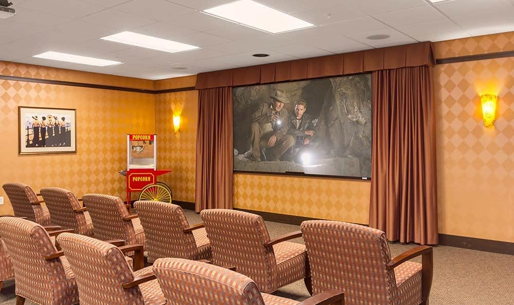 Catch a flick at Merrill Gardens at Green Valley Ranch's movie theater