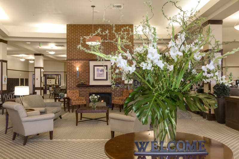 Lobby at Kirkland senior living