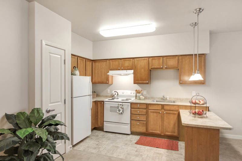 Kitchen at Kirkland senior living