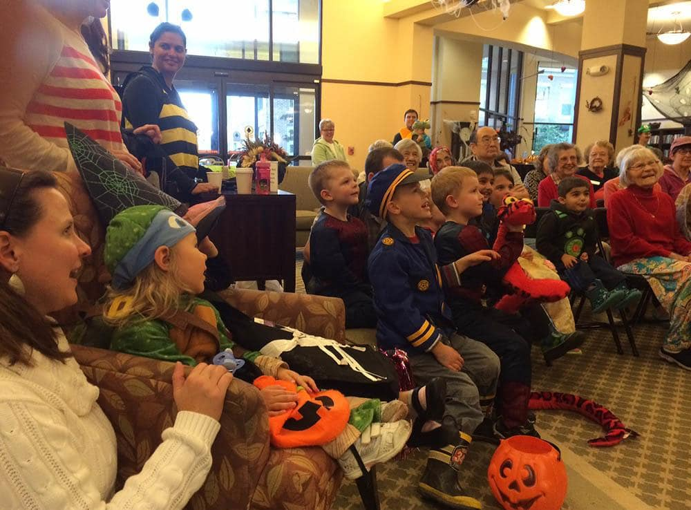 Halloween celebration at Merrill Gardens at Kirkland