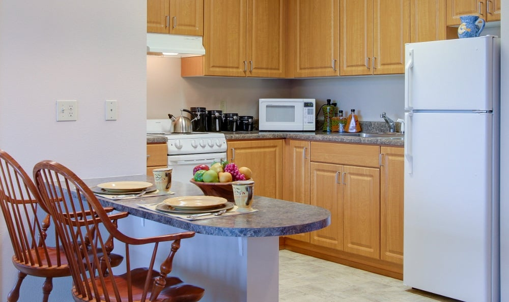 Spacious Kitchen at Merrill Gardens at Renton Centre in Renton, WA