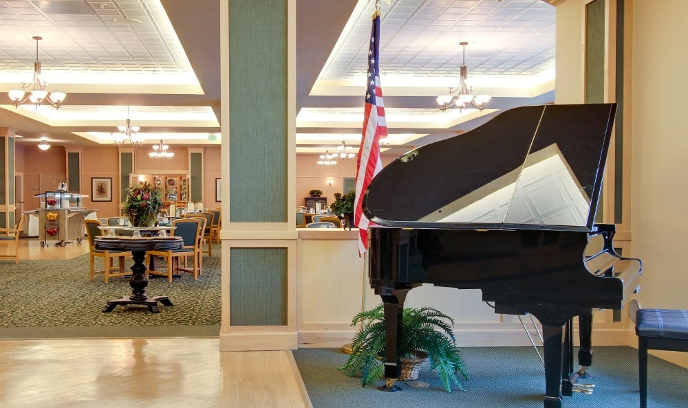 Get in touch with your musical side with our piano at Merrill Gardens at Renton Centre in Renton, WA