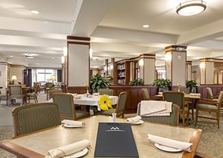 Dining hall of our senior living facility in Seattle
