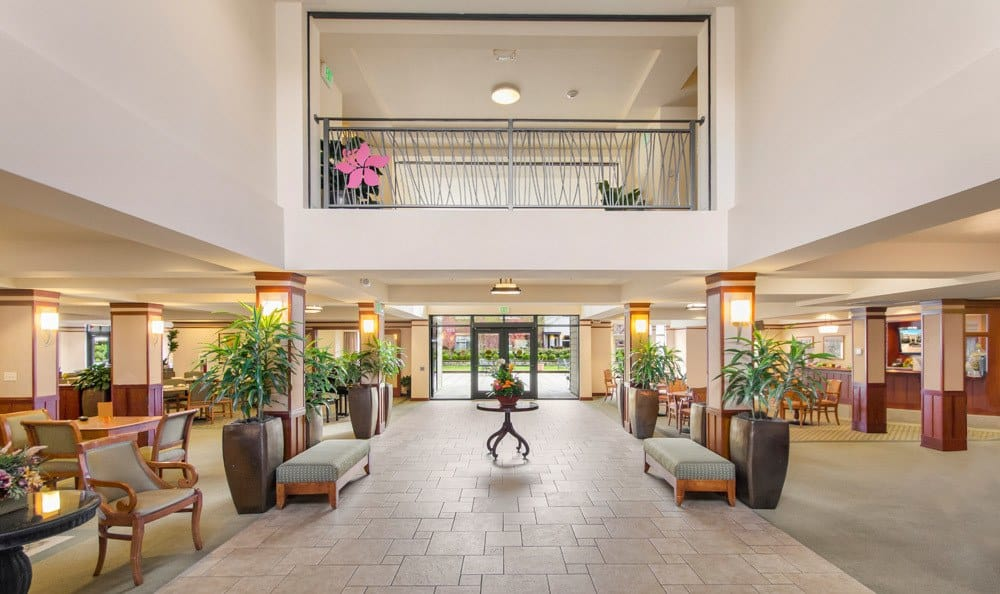 Lobby for senior living in Seattle