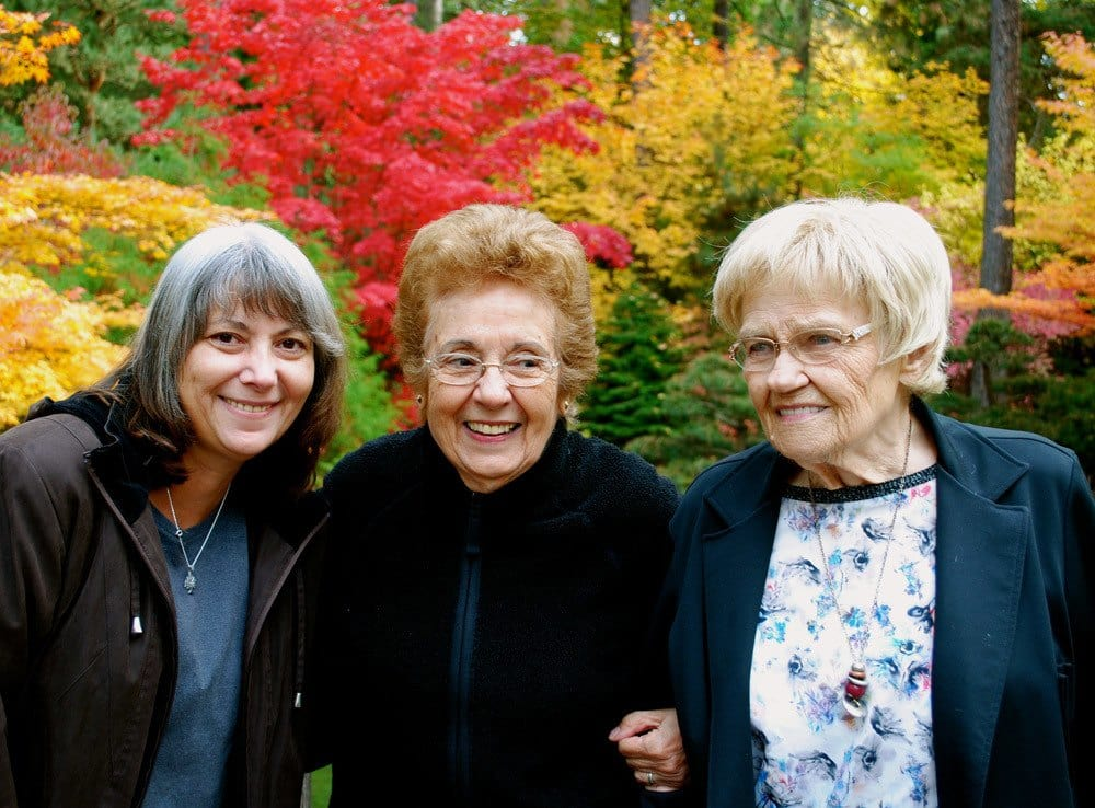 Residents Enjoying Outdoors at The Academy, A Merrill Gardens Community in Spokane