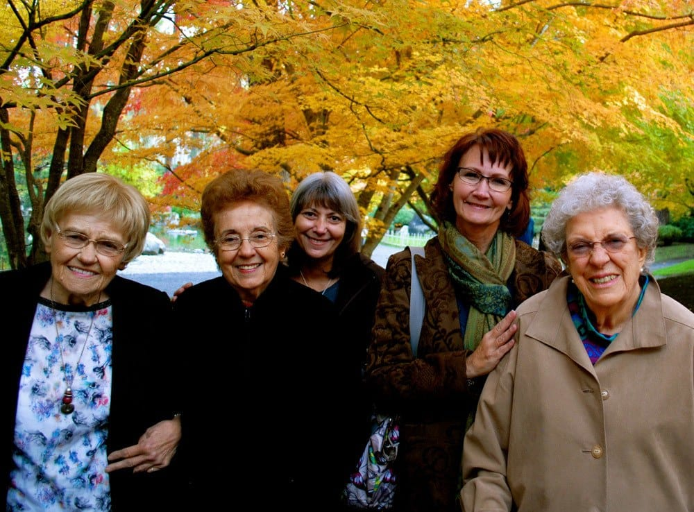 Ladies Enjoying Outdoors at The Academy, A Merrill Gardens Community in Spokane