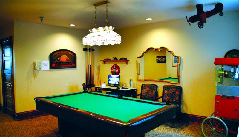 Billiards at Spokane senior living