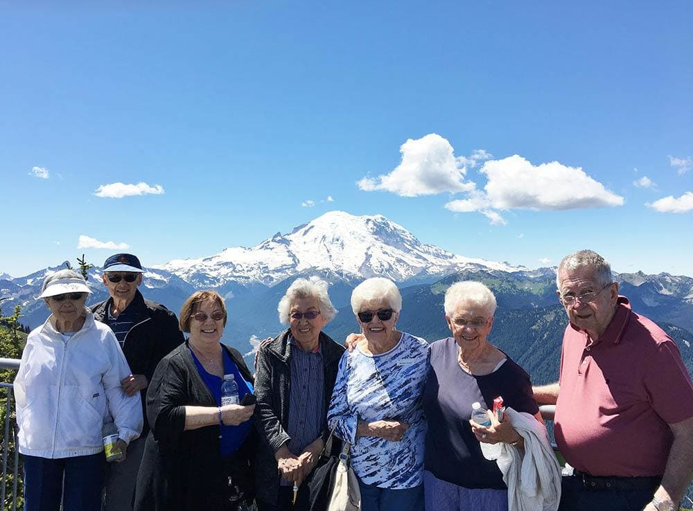 Group of Merrill Gardens at Tacoma Residents Enjoying Outing