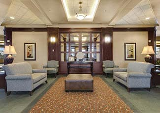 Beautiful lobby of Tacoma senior living