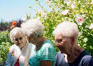 Happy residents at  senior living in Tacoma