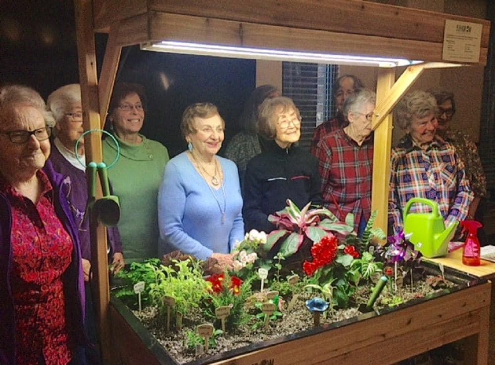 Group of Ladies Merrill Gardens at Tacoma  Enjoying Gardening