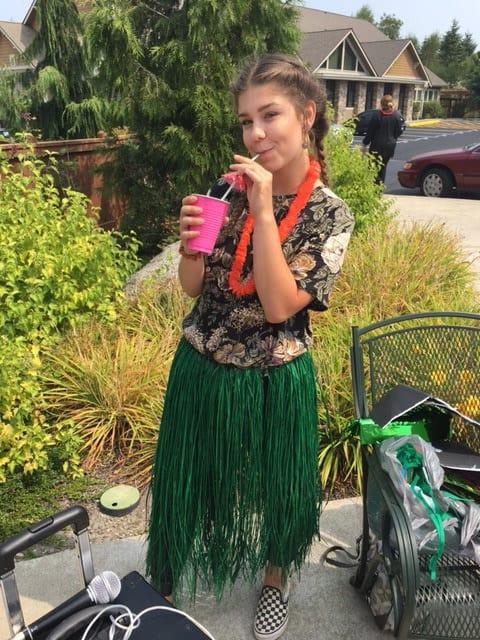 Enjoy a Luau party at Merrill Gardens at Tacoma, senior living in Tacoma