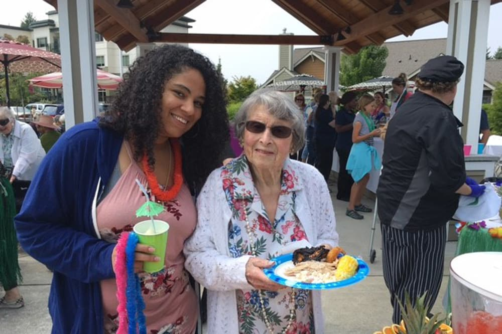 Enjoy a Luau party at Merrill Gardens at Tacoma