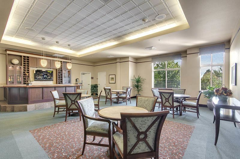 Lobby at Tacoma senior living