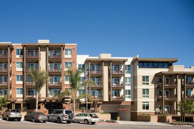 Exterior of senior living in San Diego