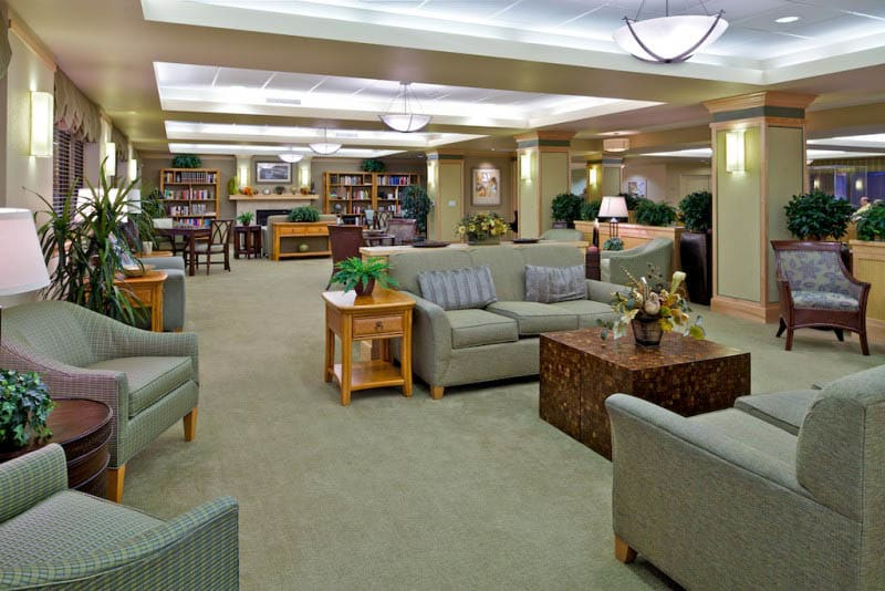 Lobby at senior living in San Diego, CA