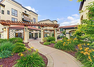 Walkway at our senior living facility in Campbell