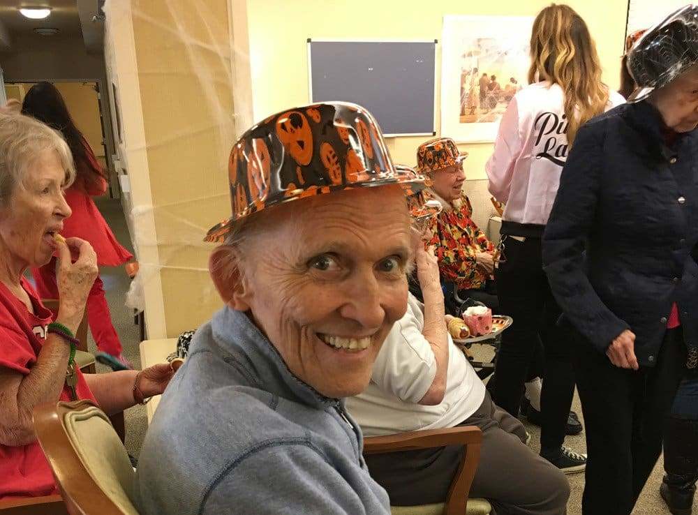 Resident Enjoying Halloween at Merrill Gardens at Campbell in Campbell
