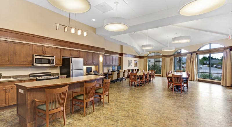 Activity room at senior living in Campbell, CA