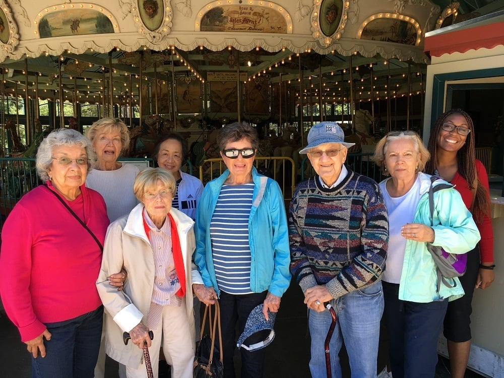 Residents on an outing in their community of Lafayette, CA