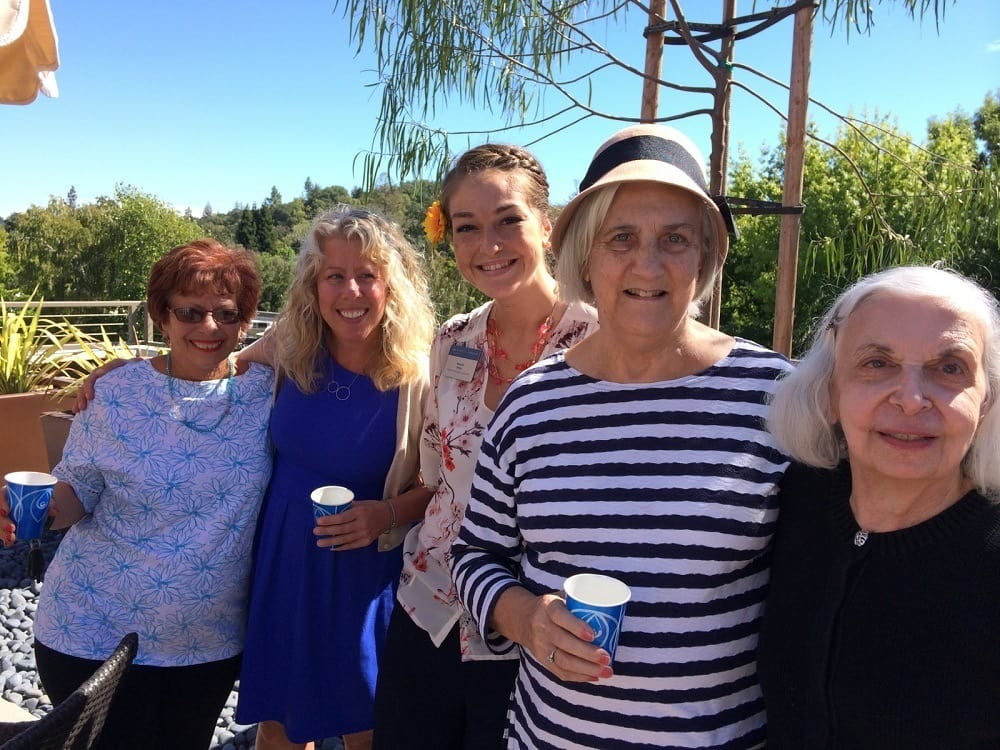Residents wine tasting near Merrill Gardens at Lafayette in Lafayette, California.