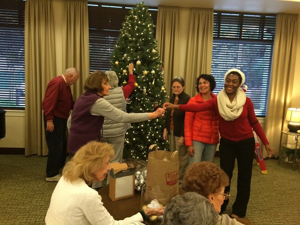 Christmas activities at Merrill Gardens at Lafayette