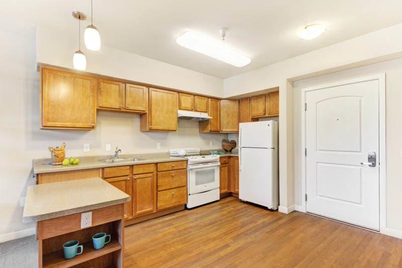 Kitchen at Lafayette senior living
