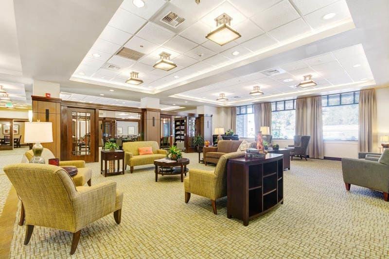 Lobby at Lafayette senior living