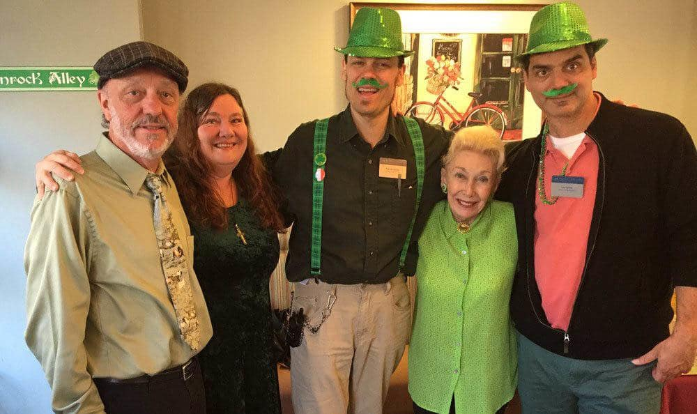 St Patricks Day festivities at Merrill Gardens at First Hill in Seattle