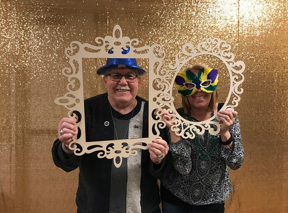 Couple in frames at Merrill Gardens at Gilroy