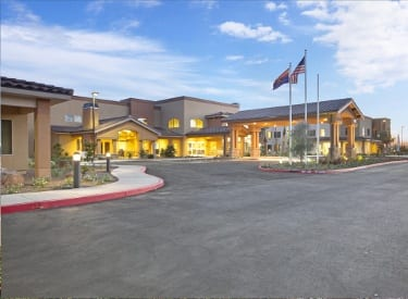 Beautiful exterior to senior living in Anthem