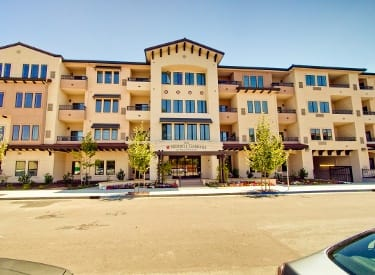 Beautiful exterior to senior living in Campbell
