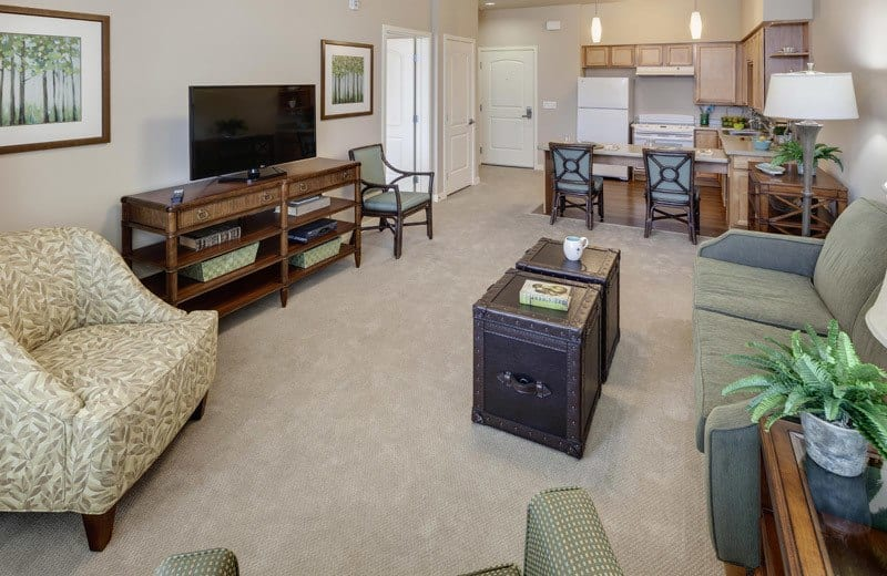 Resident apartment at Merrill Gardens at Huntington Beach in Huntington Beach, California.