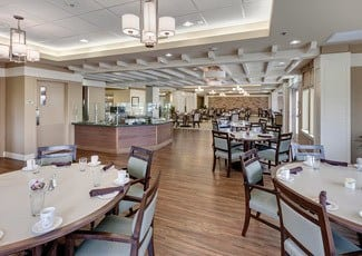 Dining hall of our senior living facility in Huntington Beach