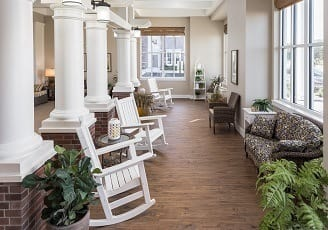 Patio at our community in Madison, AL