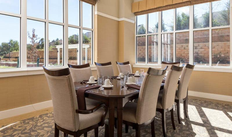 Dining room at Madison senior living