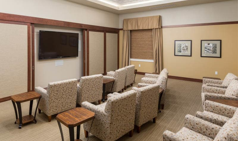 Theater at senior living in Madison, AL